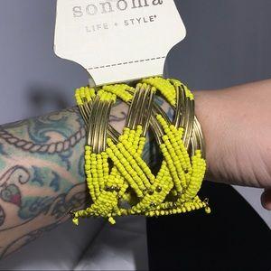 Sonoma Life + Style Twisted Bead Cuff